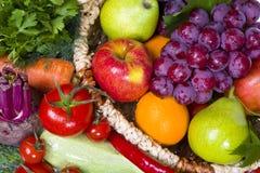 Свежие фрукты и овощи стоковая фотография rf