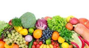 Свежие фрукты и овощи стоковая фотография