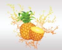 Backround свежих фруктов и фруктового сока Стоковые Фотографии RF