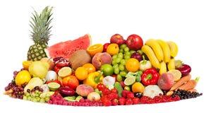 свежие фрукты собирают огромные овощи Стоковое Фото