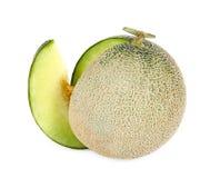 Свежие фрукты дыни изолированные на белой предпосылке Стоковые Фотографии RF