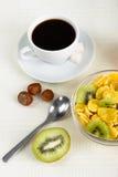 свежие фрукты cornflakes Стоковые Изображения