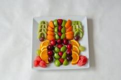 Свежие цветастые плодоовощи Здоровое питание, концепция диеты стоковое фото