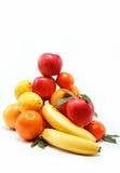 Свежие цитрусовые фрукты изолированные на белизне Стоковые Изображения RF
