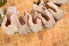 Свежие части рыб, щуки Стоковое Изображение RF