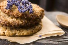 Handmade печенья лаванды стоковые фото
