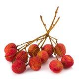 Свежие lychees изолированные на белой предпосылке Стоковые Фото