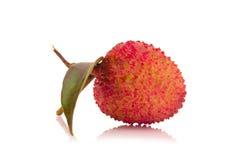 Свежие lychees изолированные на белой предпосылке Стоковое Изображение RF