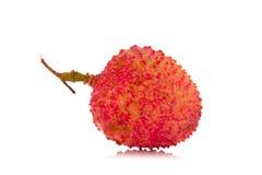 Свежие lychees изолированные на белой предпосылке Стоковое Изображение