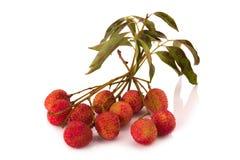 Свежие lychees изолированные на белой предпосылке Стоковые Изображения