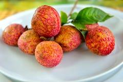 свежие lychees Стоковые Фото