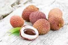 Свежие lychees o Стоковое Фото
