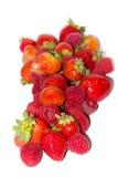 свежие strawberrys и ежевики Стоковые Фотографии RF