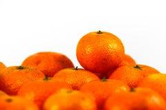 свежие tangerines кучи Стоковая Фотография RF