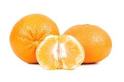 Свежие tangerines на белой предпосылке Стоковая Фотография