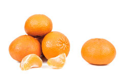 Свежие tangerines на белой предпосылке Стоковое фото RF