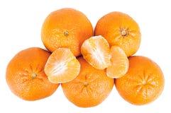 Свежие tangerines на белой предпосылке Стоковое Изображение RF