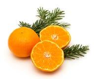 Свежие tangerines на белой предпосылке Стоковые Фото