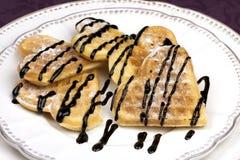 Свежие waffles в форме сердца Стоковое Фото