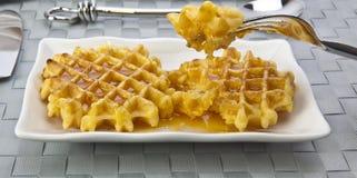 свежие waffles Стоковые Фото