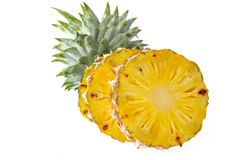 Свежий ананас изолированный на белой предпосылке Стоковые Фото