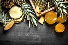 свежий ананас сока Стоковое Изображение