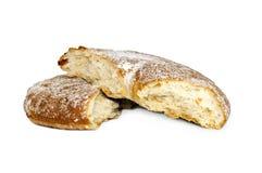 Свежий белый изолированный хлеб Стоковые Фотографии RF