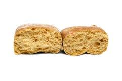 Свежий белый изолированный хлеб Стоковое фото RF