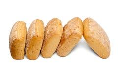 Свежий белый изолированный хлеб Стоковая Фотография