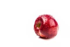 Свежий большой изолят яблока на белизне Стоковые Изображения
