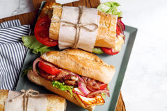 Свежий введенный в моду сандвич bahn-mi багета Стоковое Изображение