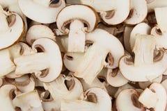Свежий гриб отрезает текстуру предпосылки еды Стоковая Фотография RF
