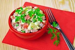 свежий домашний салат Стоковое фото RF