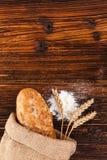 Свежий домодельный хлеб багета Стоковые Фотографии RF