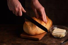 Свежий домодельный хлеб crisp Хлеб на активизирует Пресный хлеб диетический хлеб стоковое изображение rf