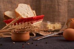 Свежий домодельный хлеб crisp Хлеб на активизирует Пресный хлеб диетический хлеб стоковое фото rf