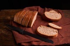 Свежий домодельный хлеб crisp Хлеб на активизирует Пресный хлеб диетический хлеб стоковое фото