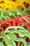свежий желтый цвет зеленых перцев красный Стоковое фото RF