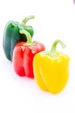 свежий желтый цвет зеленых перцев красный Стоковые Фотографии RF