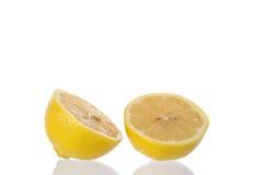 свежий желтый цвет ломтика лимона Стоковая Фотография