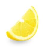 свежий желтый цвет ломтика лимона Стоковое Изображение