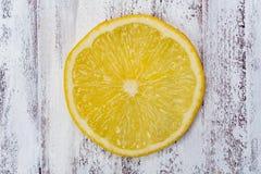 свежий желтый цвет ломтика лимона Стоковая Фотография RF