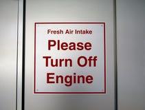 Свежий забор воздуха Поверните двигатель спойте стоковое фото rf