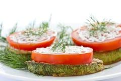 свежий зажаренный zucchini томатов Стоковое Фото