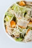 Свежий здоровый салат цезаря На белой предпосылке Взгляд сверху стоковое фото rf