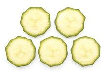 Свежий зеленый цукини изолированный на белизне Стоковые Изображения RF