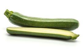 Свежий зеленый цукини изолированный на белизне Стоковая Фотография