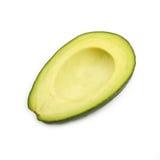 Свежий зеленый зрелый авокадо изолированный на белизне Стоковые Изображения RF