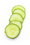 Свежий зеленый кусок огурца Стоковые Фото