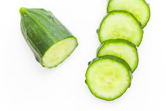 Свежий зеленый кусок огурца Стоковые Изображения RF